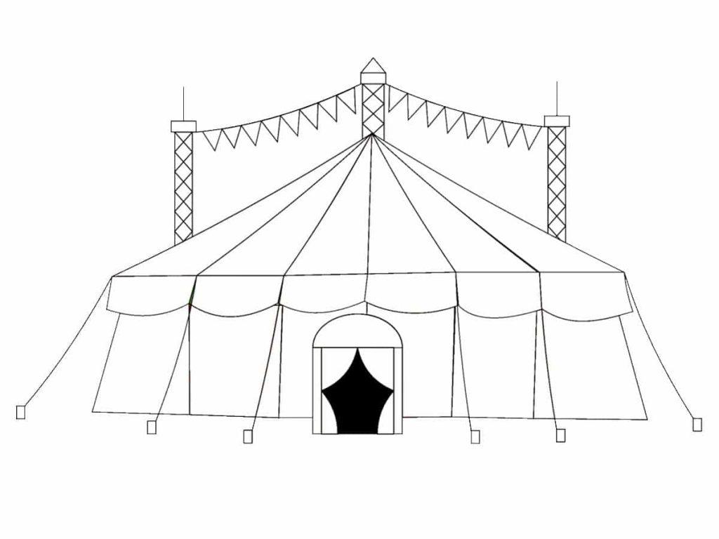 Colorear el circo 10