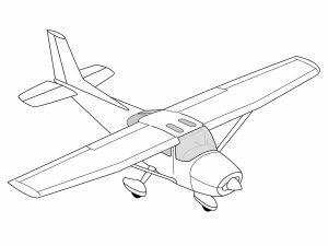 colorear aviones 18