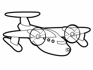 colorear aviones 31