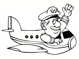 colorear aviones 34