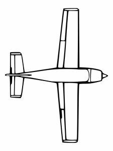colorear aviones 5
