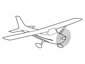 colorear aviones 1