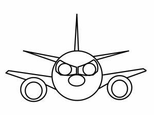 colorear aviones 16
