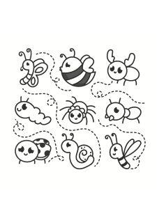 colorea insectos
