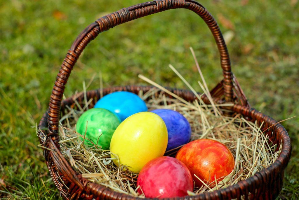 en búsqueda de los huevos de pascua