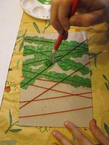 pollito carton color verde