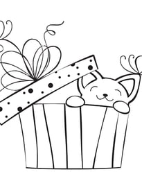 Gatos para imprimir y colorear 61