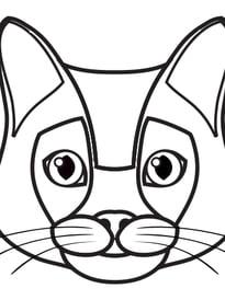Gatos para imprimir y colorear 62