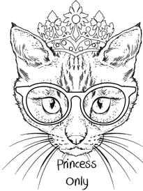 Gatos para imprimir y colorear 65