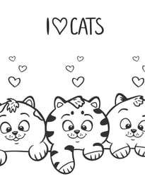 Gatos para imprimir y colorear 1