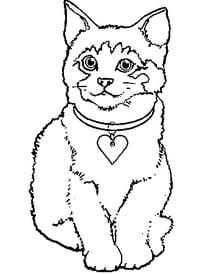 Gatos para imprimir y colorear 7