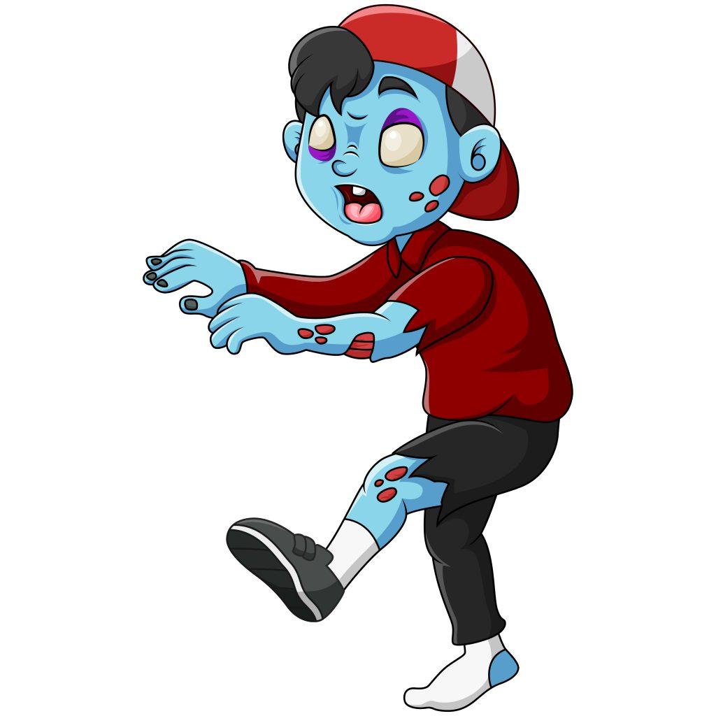 jugando a zombies niños
