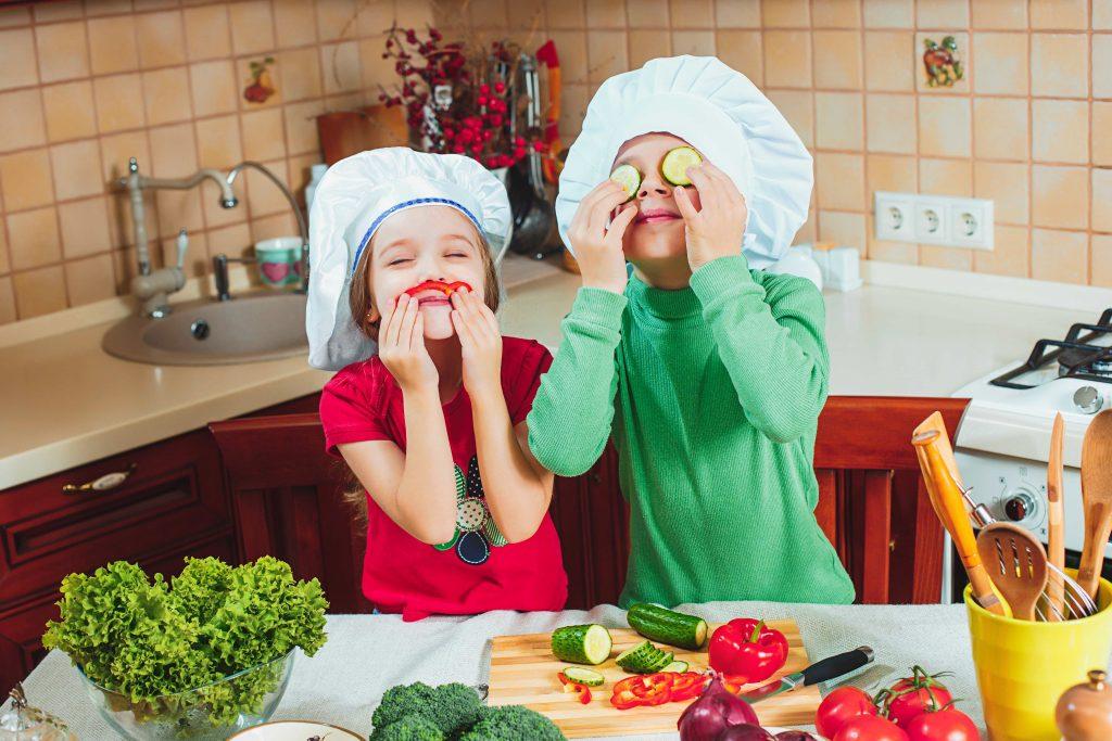 verduras para niños jugando