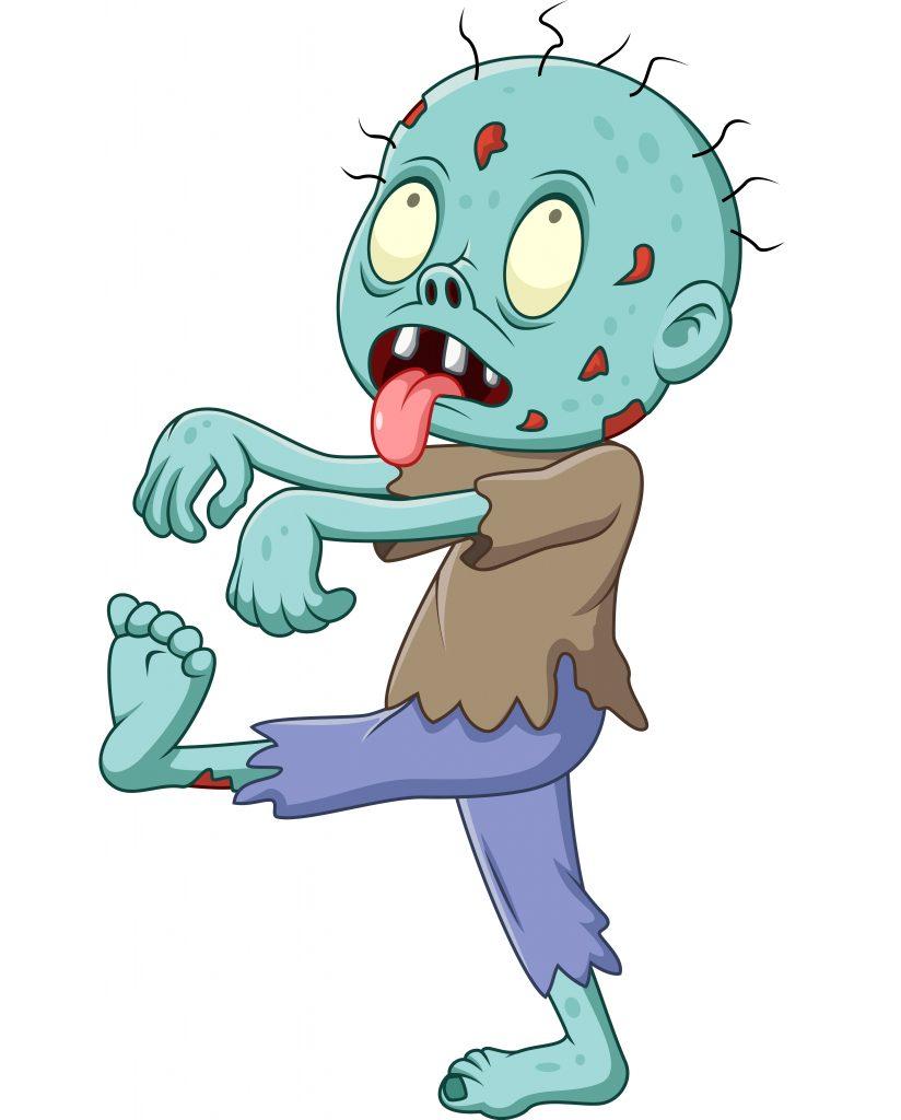 niños jugando a zombies