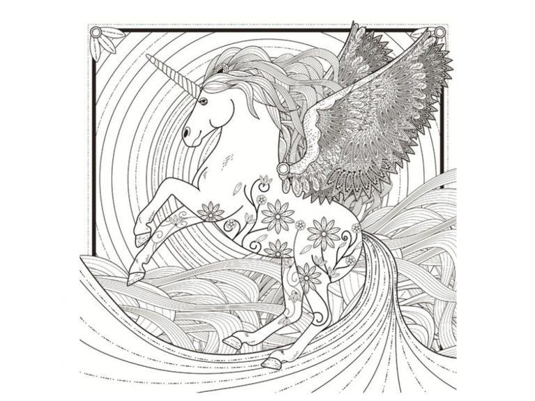 Unicornios para colorear: 22 modelos para imprimir 10