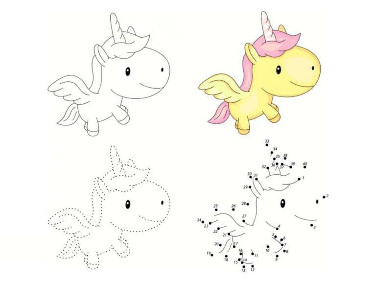 Unicornios para colorear: 22 modelos para imprimir 8
