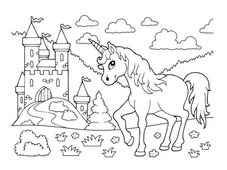 Unicornios para colorear: 22 modelos para imprimir 7