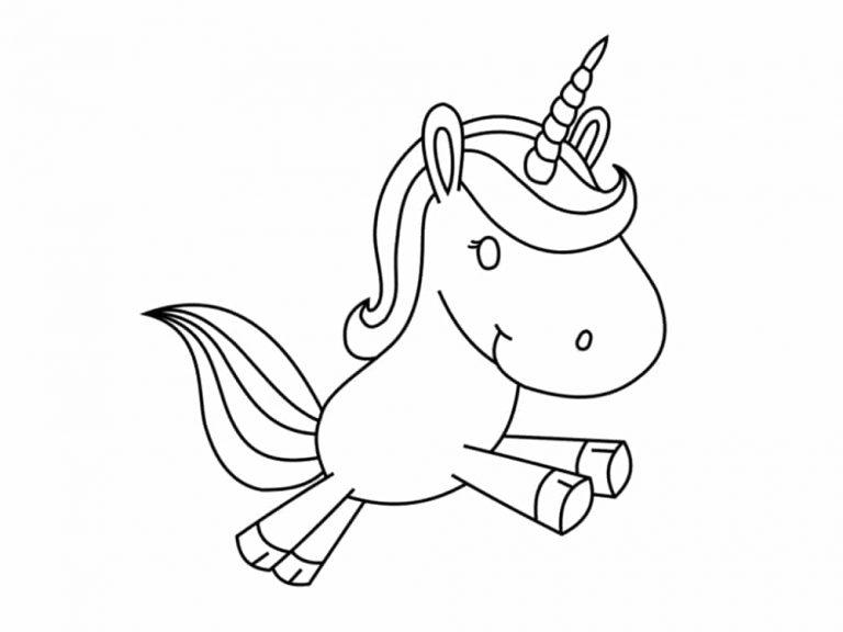 Unicornios para colorear: 22 modelos para imprimir 6