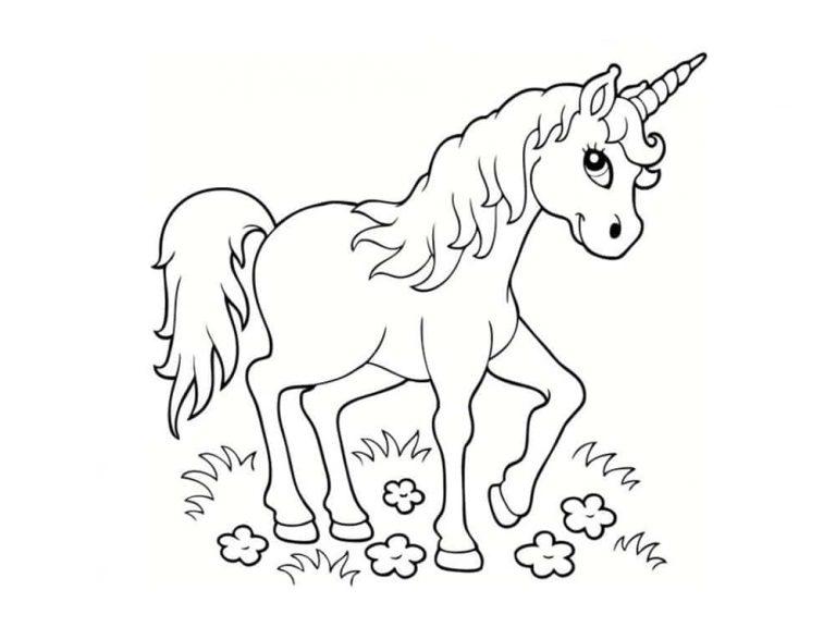 Unicornios para colorear: 22 modelos para imprimir 5