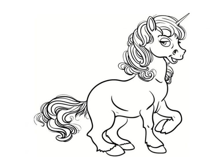 Unicornios para colorear: 22 modelos para imprimir 4