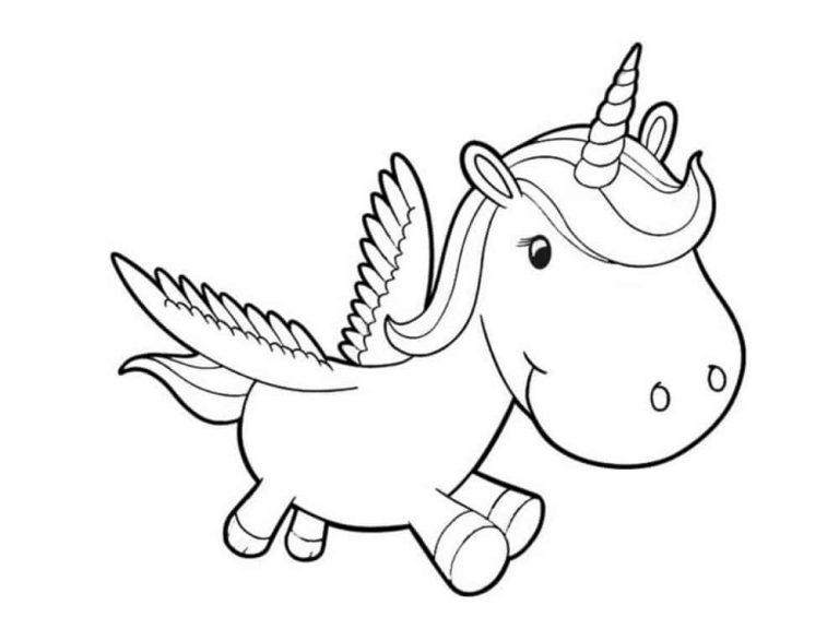 Unicornios para colorear: 22 modelos para imprimir 3