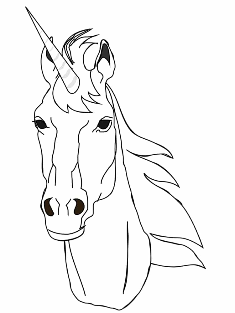colorear unicornio 2