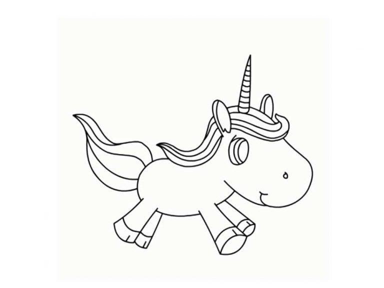 Unicornios para colorear: 22 modelos para imprimir 1