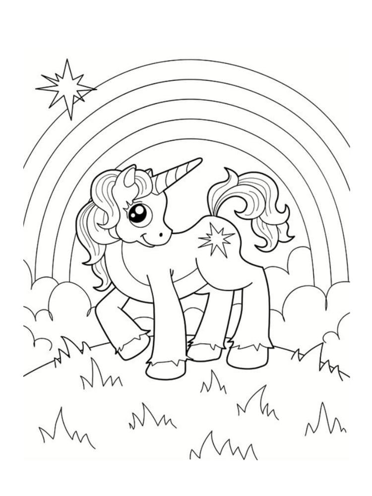 Unicornios para colorear: 22 modelos para imprimir 19