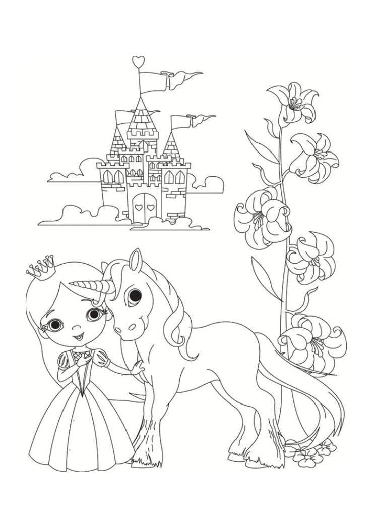 Unicornios para colorear: 22 modelos para imprimir 16