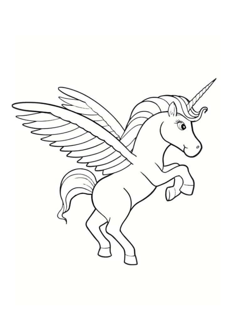 Unicornios para colorear: 22 modelos para imprimir 14