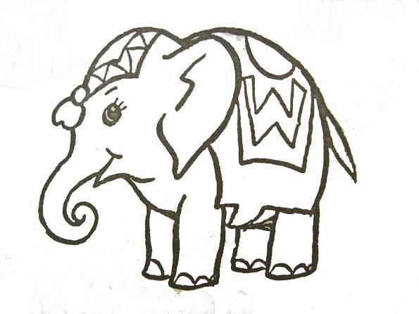 Elefantes para imprimir y colorear 4