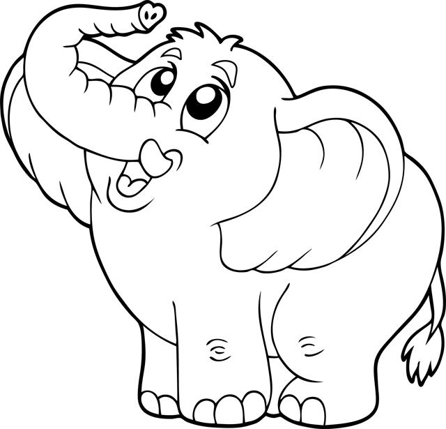 Elefantes para imprimir y colorear 9