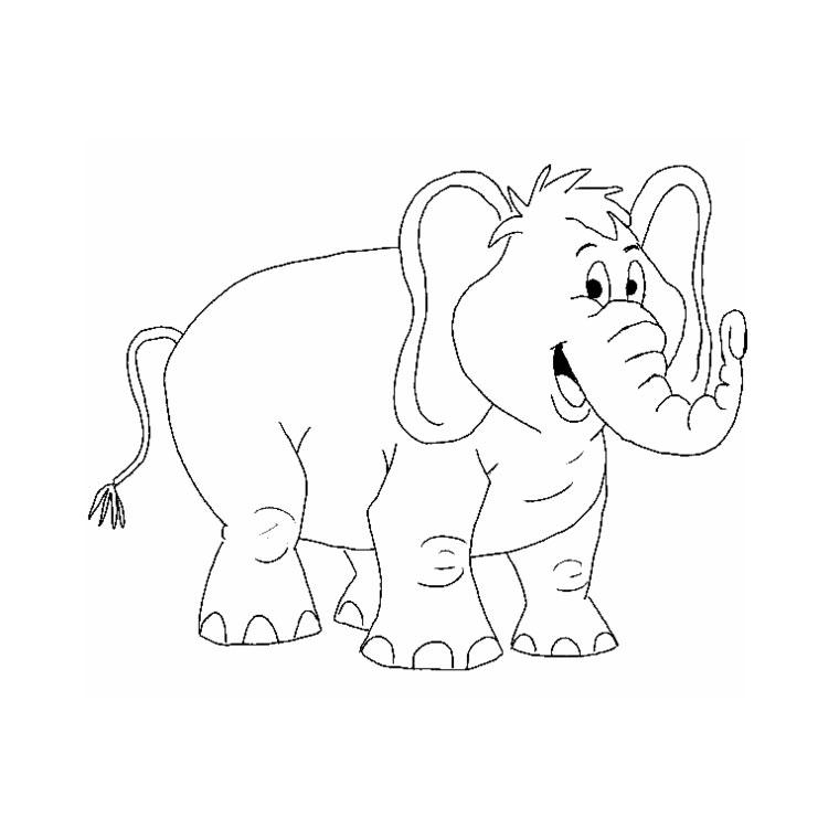 Elefantes para imprimir y colorear 14