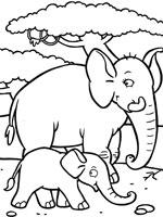 Elefantes para imprimir y colorear 17