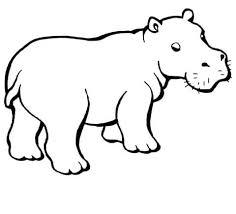 Hipopótamos para colorear 22