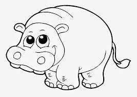 Hipopótamos para colorear 5