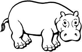 Hipopótamos para colorear 7