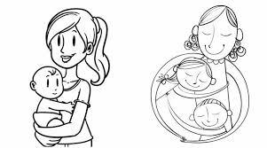 Dibujos para colorear por el día de la madre 5