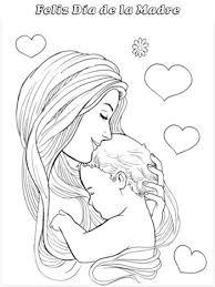 Dibujos para colorear por el día de la madre 8