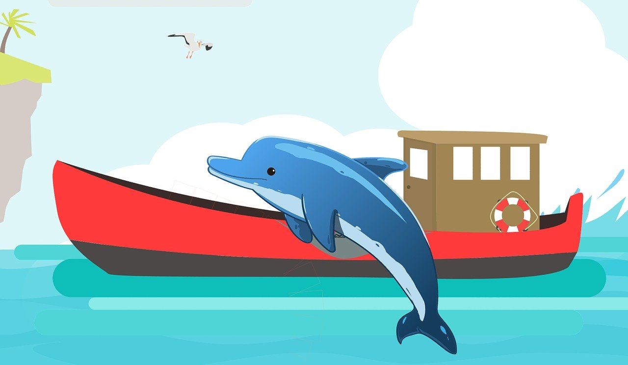 delfines para colorear