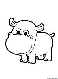 Hipopótamos para colorear 12