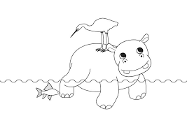 Hipopótamos para colorear 13