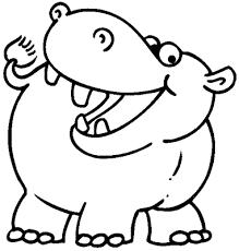 Hipopótamos para colorear 15