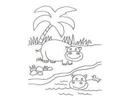 Hipopótamos para colorear 16