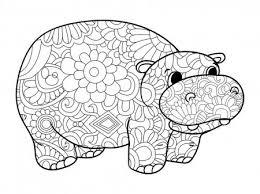 Hipopótamos para colorear 17