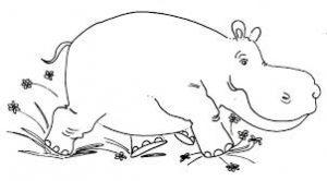 Hipopótamos para colorear 19
