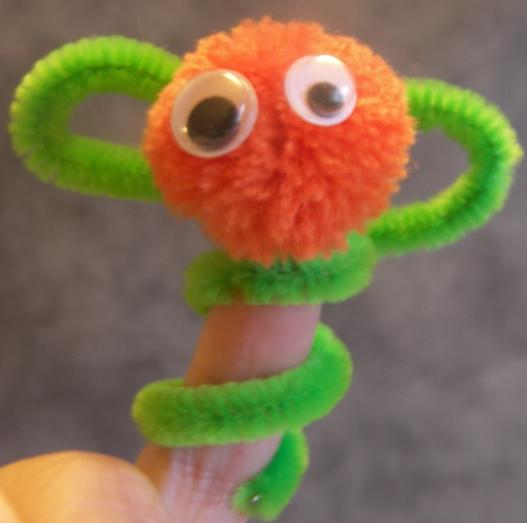 manualidad marioneta dedo