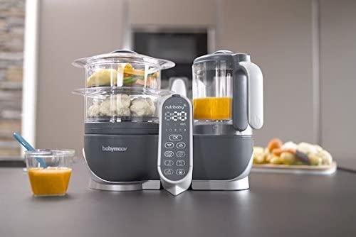 para cocinar al vapor LCD descongela y calienta Robot de cocina Eccomum Cocina al Vapor Procesador de Alimentos para Beb/és Multifunci/ón vaporera y batidora Apagado Autom/ático