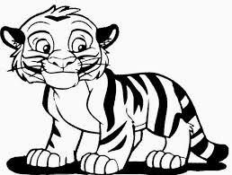 Tigres para colorear 17
