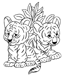 Tigres para colorear 25